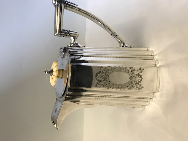 Victorian silver plated Walker & Hall coffee pot (c.1880)