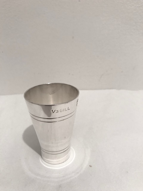 Vintage Silver Plated Conical Drinks Measure or Jigger