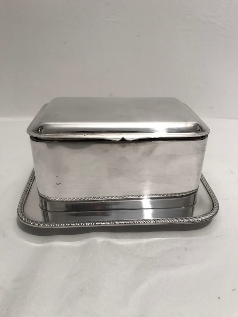 Antique Hukin & Heath Silver Plated Box on Fixed Rectangular Tray