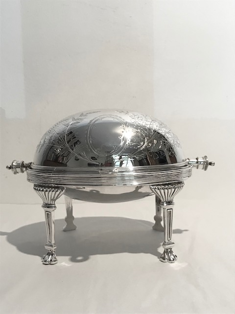 Lovely Antique Silver Plated Butter Dish with Original Grille