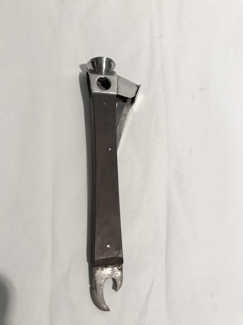 Antique Silver Plated and Steel Cigar Cutter