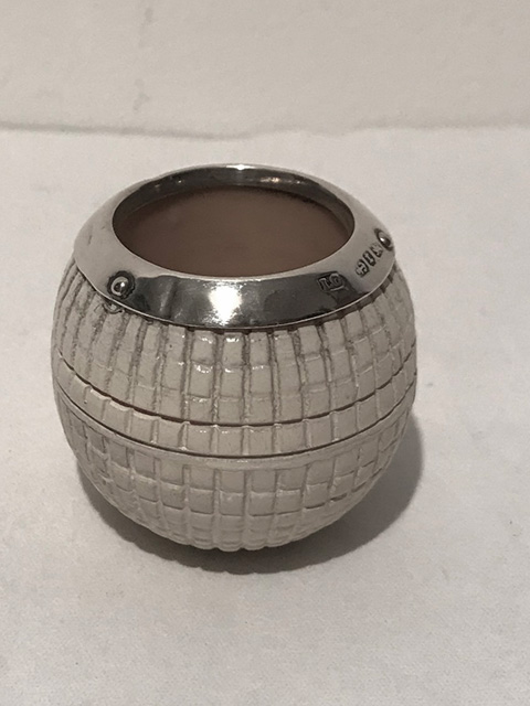 Novelty Antique Solid Silver Mounted on Ceramic Match Striker