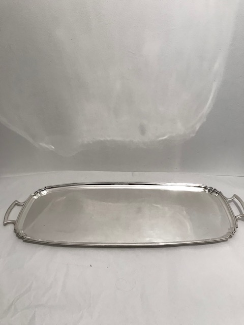 Antique Silver Plated Long and Narrow Bar Sandwich Tray